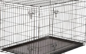 A quality and durable dog crate with secure latching mechanism